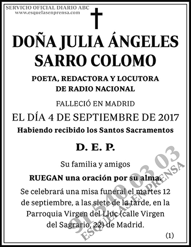 Julia Ángeles Sarro Colomo